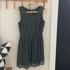 A.Buyer Green and Gold Studded Dress (S)